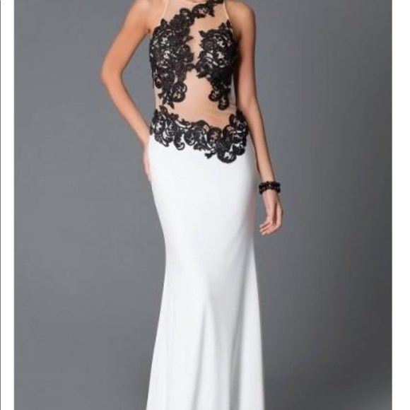 Jovani Dresses & Skirts - Black and White Laced Gown